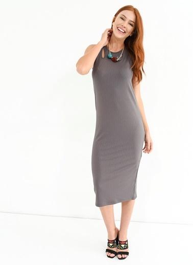 Diz Altı Elbise-People By Fabrika